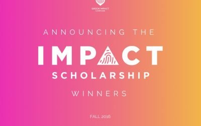 Announcing the Fall 2016 Impact Scholarship Winners